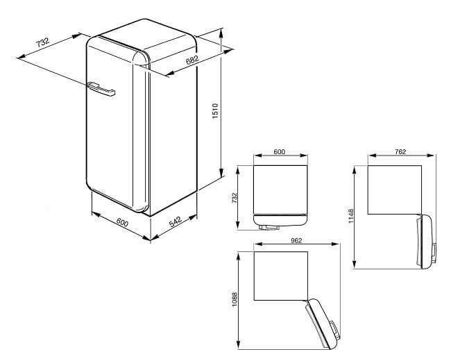SMEG retro ledusskapis FAB28RDB