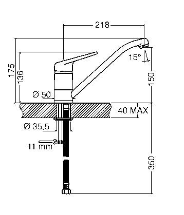 SMEG ūdens maisītājs MF112AV2